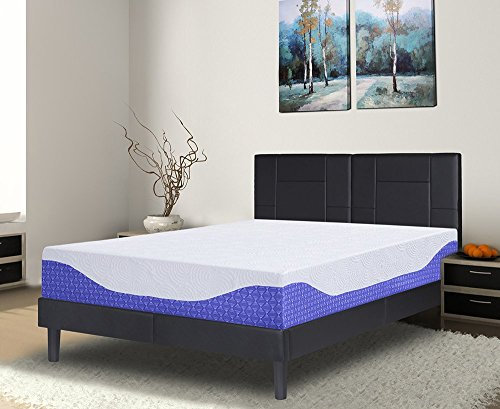 12' Mattress (PrimaSleep Multi-Layered I-Gel Infused Memory Foam Mattress, Cobalt Blue, 12'' H/Queen)