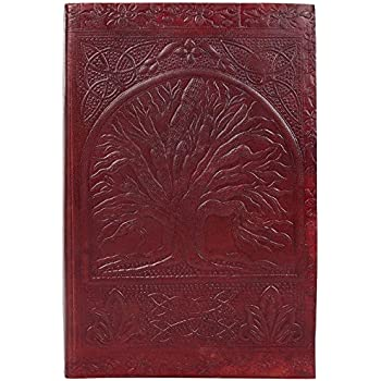 """Rustic Town Handmade Vintage Antique Looking Genuine Leather Journal Notebook """" Tree of Life """" Gift for Men Women Gift for Him Her"""