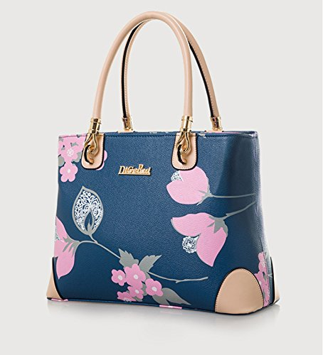 Womens Leather Tote Flowers All over Body Vintage Bag White Handbag Shoulder Cross Purse Pu FwqpF0r