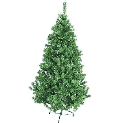 Hengda® Árbol de Navidad Artificial PINOS único Árbol Decorativo con soporte metálico Christmas 150CM Verde