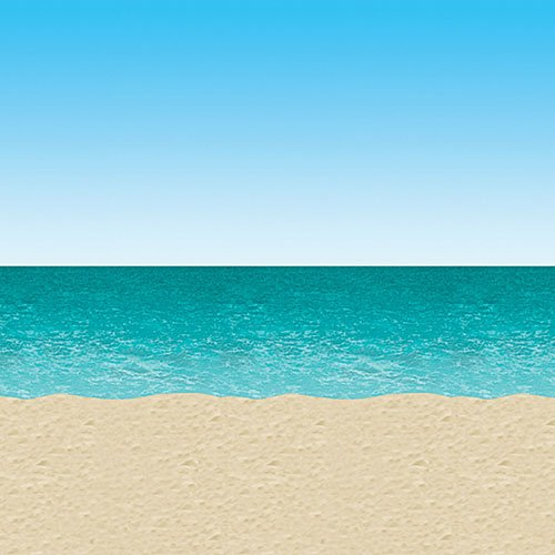 Ocean & Beach Backdrop Party Accessory (1 count) -