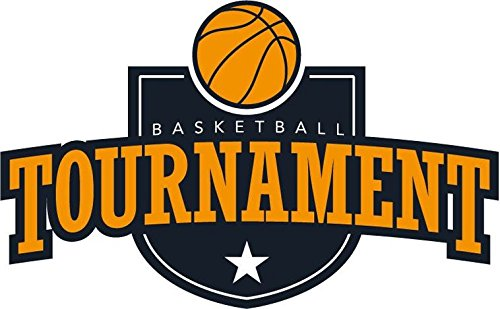 Basketball Tournament Badge Sport Sticker Decal Design 5