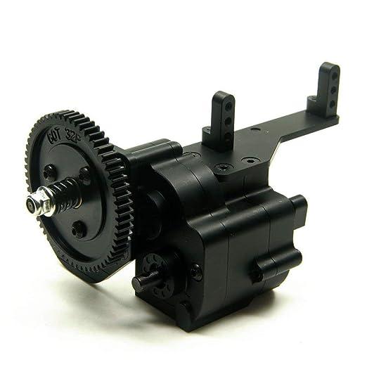 YESIAM AX2 2 Caja de Cambios de Velocidad de Aluminio Caja de Cambios para 1:10 Axial SCX10 Wraith Honcho RC Coche Negro: Amazon.es: Juguetes y juegos