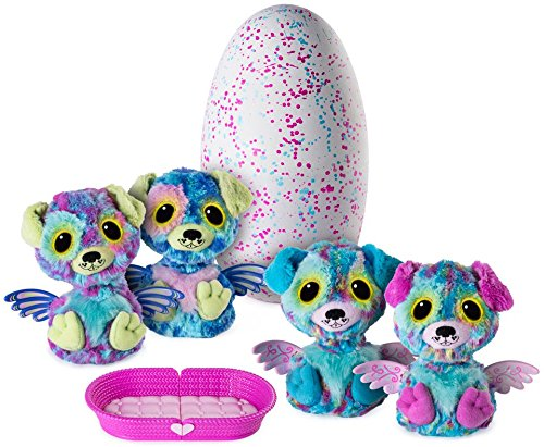 Hatching Egg with Surprise Twin Interactive Hatchimal Creatures and Nest Accessory by Spin Master Puppadee Hatchimals Surprise Available Exclusively at Toy /'R/' Us 6038401