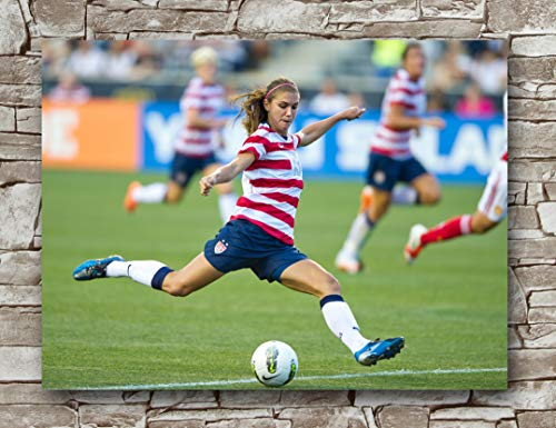 Huawuque Alex Morgan Poster Standard Size | 18-Inches by 24-Inches | Alex Morgan Posters Wall Poster Print (A)