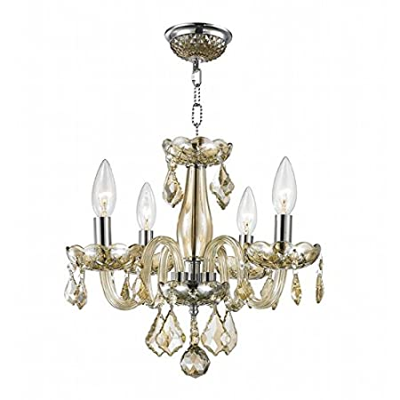 Deluxe 4 Light Modern Crystal Raindrop Chandelier By Ciata D/écor Ideal For Entrance Hall Contemporary Ceiling Light W//Solid Brass Frame /& Light Amber Finish Dining /& Living Room Foyer