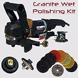 Stadea SWP111K Granite Bullnose Polishing Tools Package Kit - 5'' Stone Wet Polisher, 4'' Diamond Granite Polishing Pads, Profile Wheel For Granite Edge Fabrication and Polishing