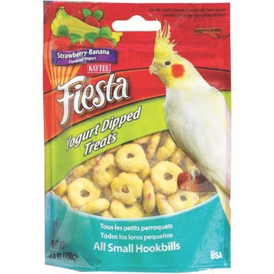 Kaytee Fiesta Yogurt Dip Cockatiel Strawberry/Banana 3.5oz (Yogurt Dips Treats)