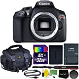 Canon EOS Rebel T6 Digital SLR Camera (Body Only) International Version Wi-Fi Enabled + 32GB SD Memory Card + Large Case + Accessory Kit w/ HeroFiber Ultra Gentle Cleaning Cloth