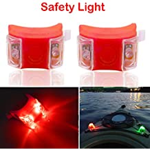 Botepon 2Pcs Boat Kayak Navigaton Light Safety Light Boating Light with 3 Modes for Riding Sailing Runing Climbing Red
