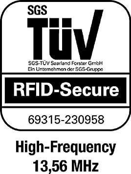 Durable 890023 /Étui souple de protection anti-RFID pour 1 carte Argent Lot de 10