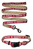 Oklahoma Sooners Nylon Collar and Matching Leash for Pets (NCAA Official by Pets First) Size Large
