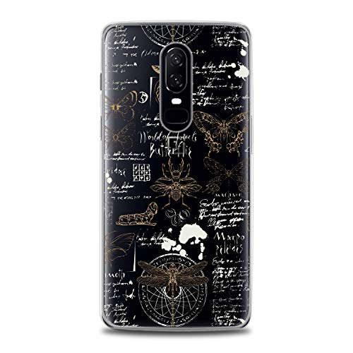 Lex Altern TPU Case for OnePlus 7 Pro 6T 6 2019 5T 5 2017 One+ 3 1+ Butterflies Clear Flexible White Slim fit Smooth Cover Pattern Dragonfly Print Lightweight Insects Design Gift Soft Spring Lady -