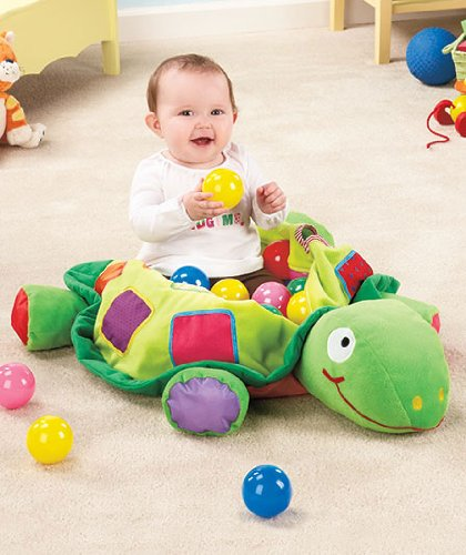plush-turtle-ball-pit-with-25-colored-play-balls