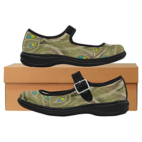 InterestPrint Womens Comfort Mary Jane Flats Casual Walking Shoes Multi 4 HLilM2P9G