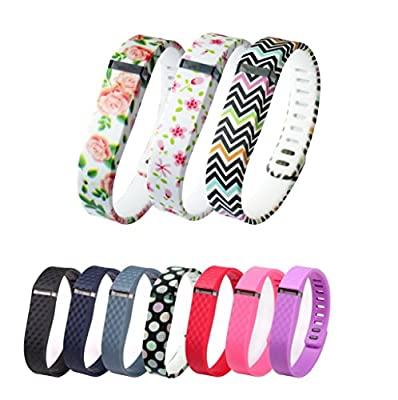 Greeninsync New Laser Colors Replacement Bands for Fitbit FLEX