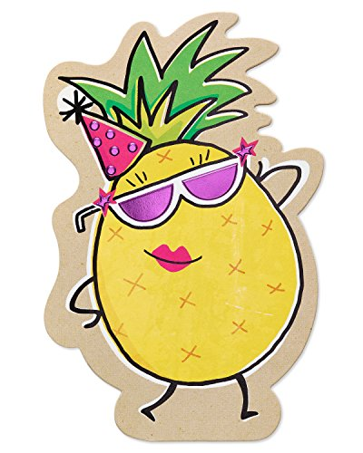 American Pineapple - American Greetings Funny Pineapple Birthday Card with Foil