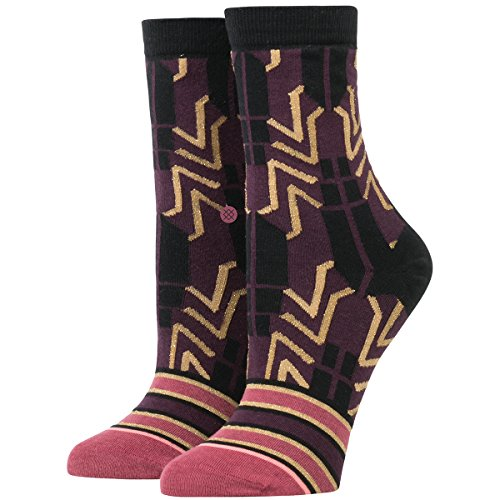 Stance Women's Nile Egyptian Print Arch Support Anklet Sock, Plum, M