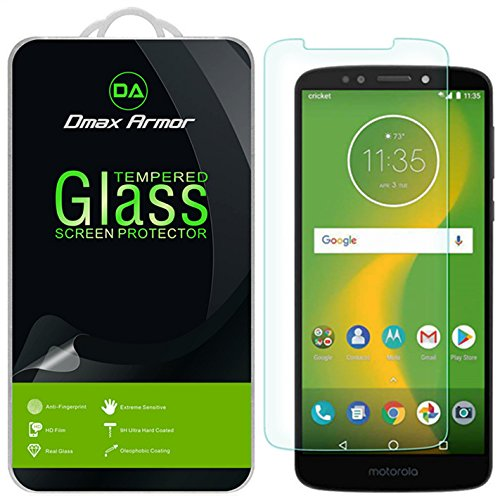 [2-Pack] Dmax Armor for Motorola Moto E5 Plus [Tempered Glass] Screen Protector with Lifetime Replacement