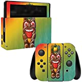 MightySkins Skin For Nintendo Switch - Tiki Man | Protective, Durable, and Unique Vinyl Decal wrap cover | Easy To Apply, Remove, and Change Styles | Made in the USA