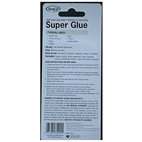Seal-It Brand Super Glue (2-pack) chic - www icuil org