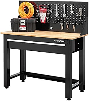 Husky G4801S-US 4 Ft. Solid Wood Top Workbench