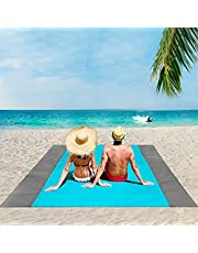 ISOPHO Beach Blanket, 79''×83''/95'' x 108'' Beach Blanket Waterproof Sandproof for 3-7 Adults, Oversized Lightweight Beach Mat, Portable Picnic Blankets, Sand Proof Mat for Travel, Camping, Hiking