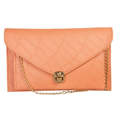 Louise Belgium Premium PU Leather Women Sling bag - Peach