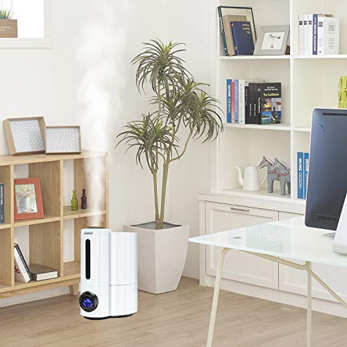 Waterless Auto Shut-Off GEARGO Ultrasonic Cool Mist Humidifier Large 4L//1.1Gallon Water Tank Whole House Air Humidifiers for Bedroom Living Room with Whisper-Quiet Operation Night Light