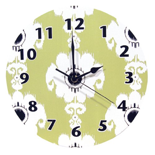 Trend Lab Waverly Rise and Shine Wall Clock, Green by Trend Lab