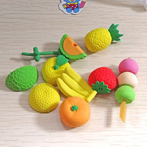 [AA 2PC Cute Cartoon Fruit/Food/Veg/Pistol/Rubber Pencil Eraser Kids Stationery Gift Set] (Where Does Halloween Come From)