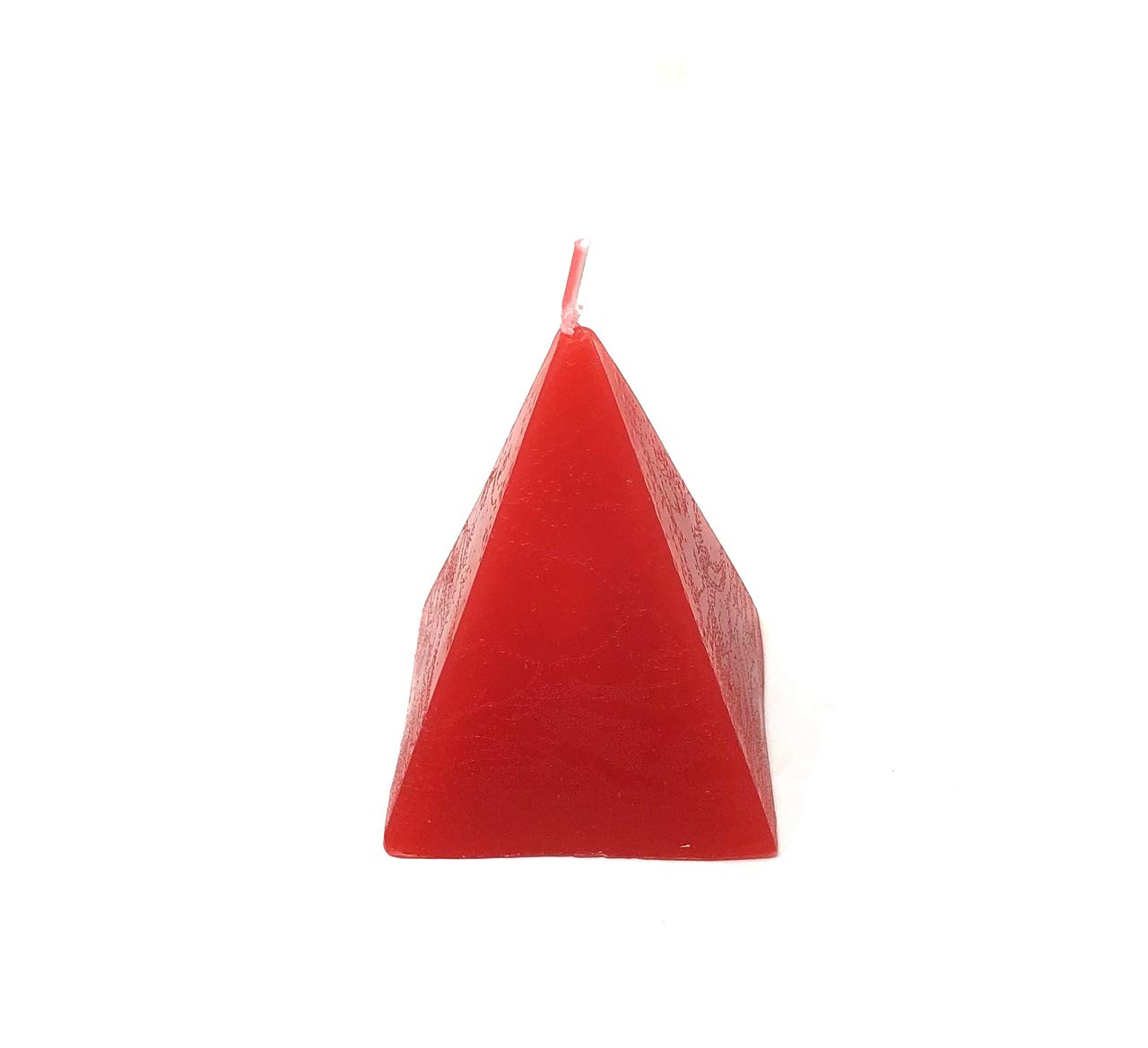 Blue Pine Pentagram Decorative Colored Pyramid Candle for Wicca Hoodoo and Pagan Spell Rituals
