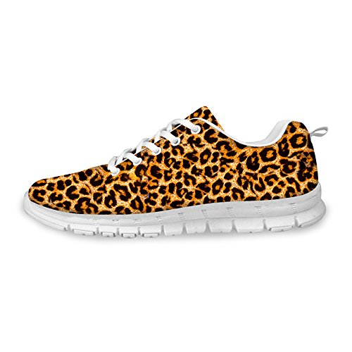 Knuffels Idee Dieren Patroon Mode Vrouwen Lichtgewicht Uitgevoerd Sneakers Luipaard Patroon