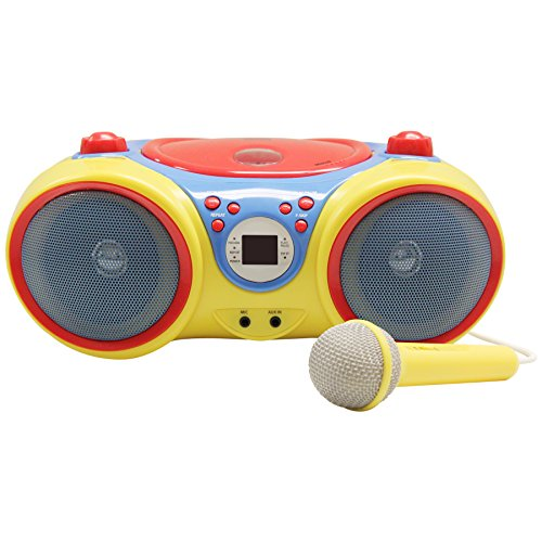 HamiltonBuhl HECKIDSCD30 Kids CD Player/Karaoke Machine with Microphone by HamiltonBuhl (Image #1)