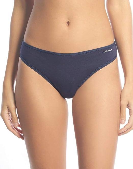Calvin Klein Para Mujer Signature Cotton 5 Pack Thong Bragas Tipo ...