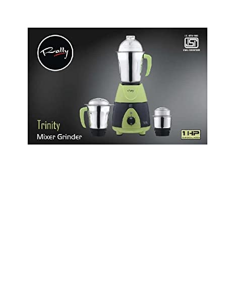 5cda72d68 Buy Rally Stainless SteelMixer Grinder Trinity (Green) Online at Low Prices  in India - Amazon.in