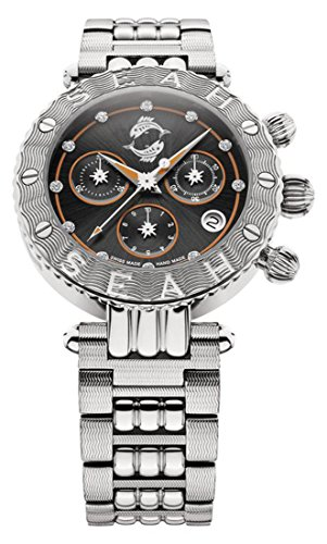 Seah-Galaxy-Zodiac-sign-Pisces-Limited-Edition-38mm-Silver-Tone-Swiss-made-Luxury-watch