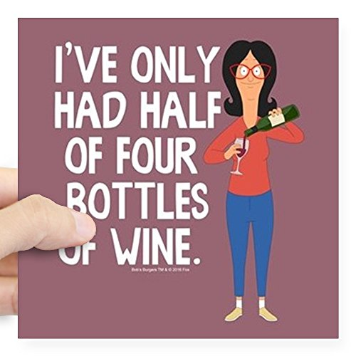 CafePress Bob's Burgers Wine Square Sticker 3