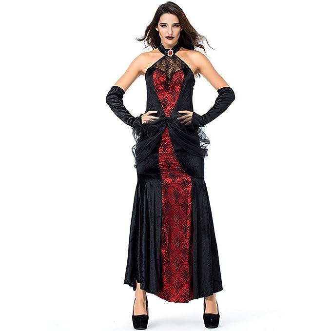 Sijux Las Mujeres de Halloween Sexy Costume Queen Falda Larga ...