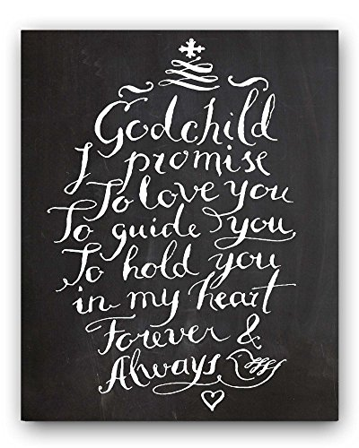 Godchild Gift Quote Nursery Print