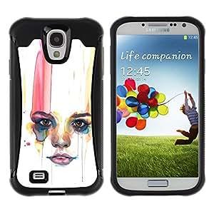 "Hypernova Defender Series TPU protection Cas Case Coque pour Samsung Galaxy S4 IV I9500 [Labios Mujer Minimalista""]"