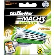 Gillette MACH3 Sensitive Power Klingen 8 Stück