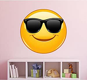 Emoji Wall Decal - Sunglasses Emoji Wall Decal - Emoticon