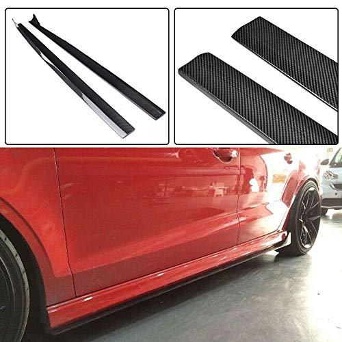 (JC SPORTLINE A3 Sline S3 RS3 CF Side Skirts, fits Audi A3 Sline S3 RS3 Sedan 2014-2019 Carbon Fiber Extension Lip Rocker Panels Bottom Line)