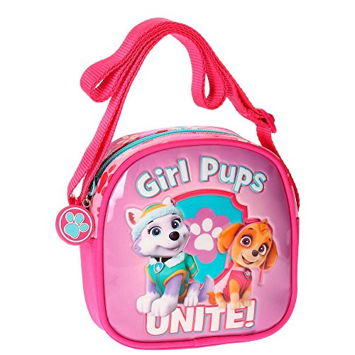 Paw Patrol Girls Pups Borsa Messenger, 15 cm, 1.13 liters, Rosa