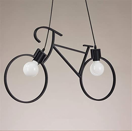 ZSAIMD 2 luces Vintage bicicleta Hierro Metal Sala Decoración de ...