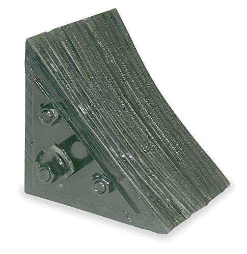 Wheel Chock, General Purpose, Style: Single, Laminated Rubber by GRAINGER APPROVED (Image #1)