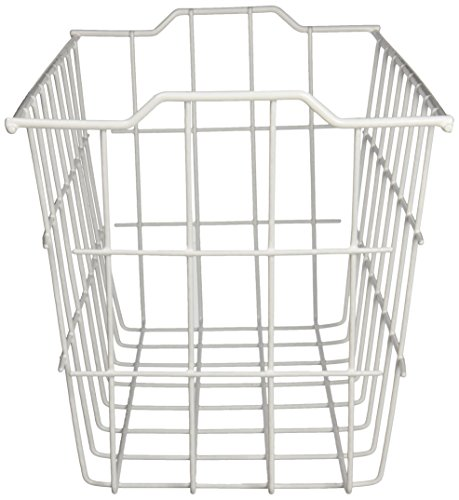 Grayline 40604, Deep Storage Basket, White (Vinyl Storage Basket)