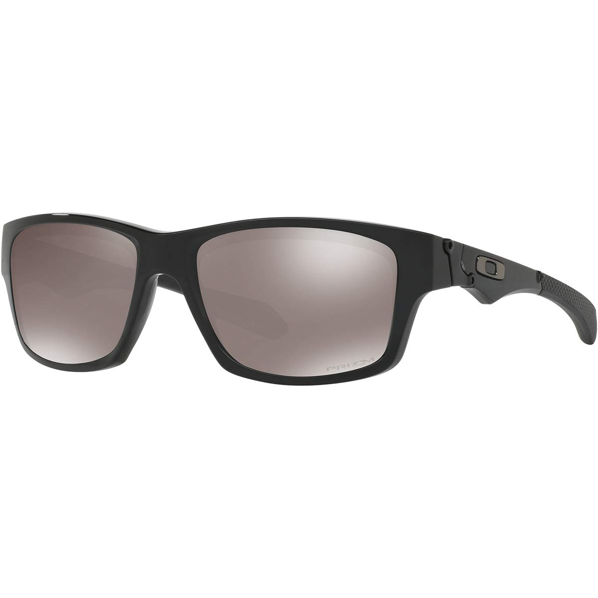 Oakley Men's OO9135 Jupiter Squared Rectangular Sunglasses, Polished Black/Prizm Black Polarized, 56 mm by Oakley