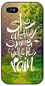 Diy For Mousepad 9*7.5Inch Bible Verse - She acts like summer and walks like rain - black plastic Verses, Inspirational and Motivational